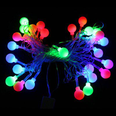 Gearbest Only $2.99 for BRELONG Waterproof 4m 28LED Christmas Decorative Light String RGB EU Plug AC220-240V - Ball - RGB promotion
