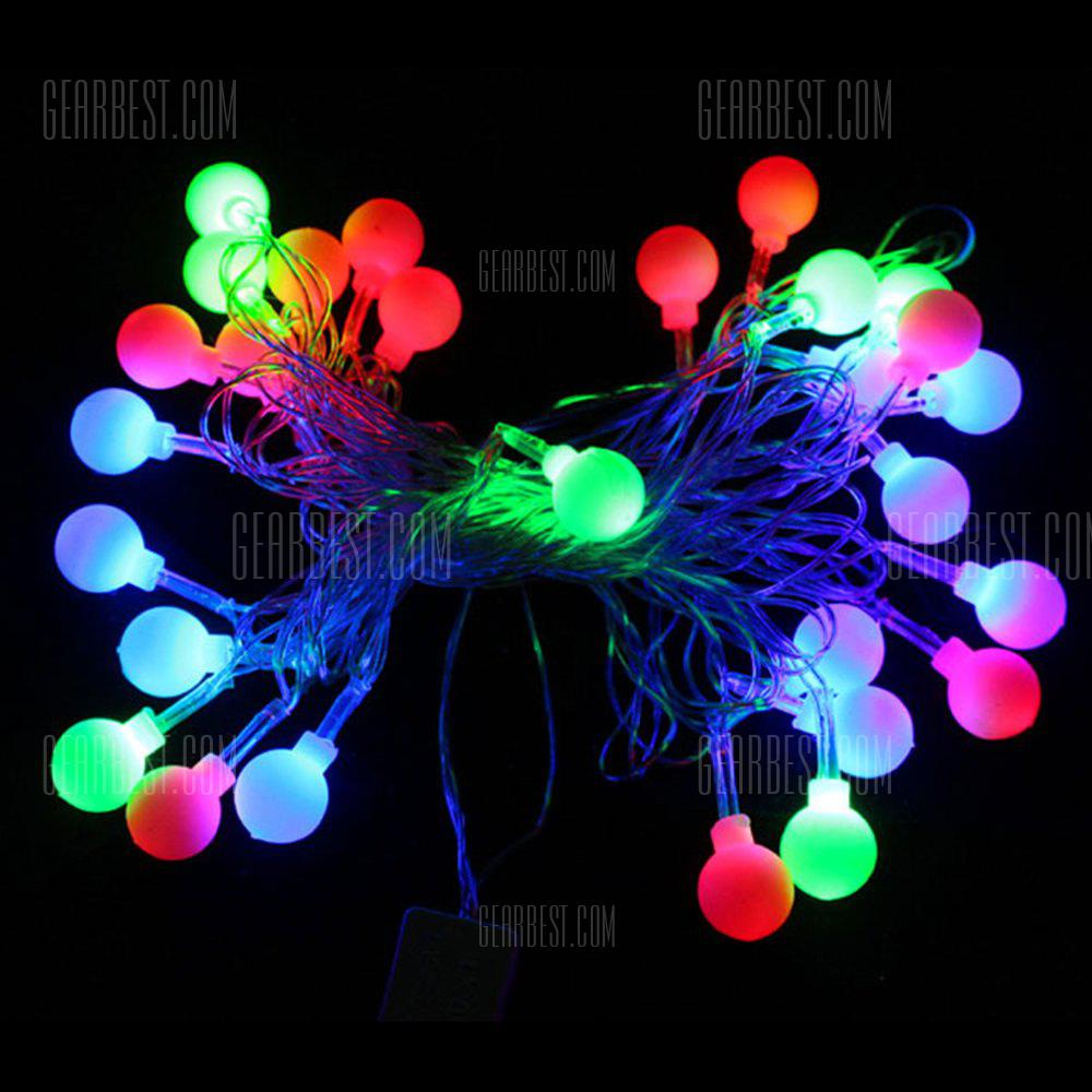 BRELONG Waterproof 4m 28LED Christmas Decorative Light String RGB EU Plug AC220-240V - Ball