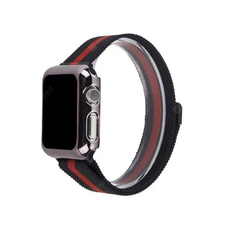 Stainless Steel Magnet Mesh Milanese Loop Adjustable Magnetic Closure Replacement iWatch Band Apple Watch Series 3 Series 2 Series 1 38MM BLACK