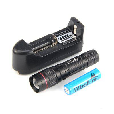 Ultrafire XPE R2 389LM 3 - STEP Compact Retractable Focus Flashlight Set