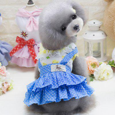 Lovoyager E6 Summer Cute Pet Clothes Polka Dots TuTu Dress Lace Skirt for Dog Puppy Teddy Chihuahua Costumes