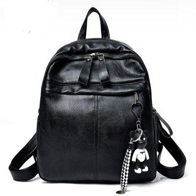 Buy BLACK New Fashion All Match Shoulder Bag PU Ladies Backpack for $31.72 in GearBest store