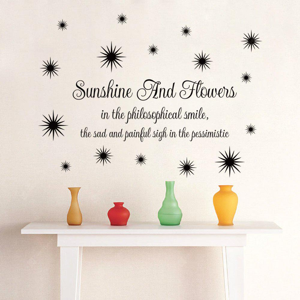 DSU Sunshine Wall Sticker Flower Smile DIY Домашнее украшение Vinyl Decal