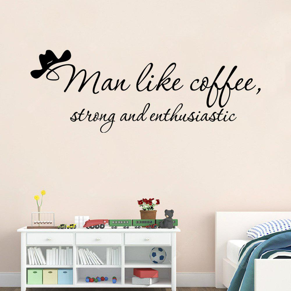 DSU Wall Decal Quote Men como Coffee Vinyl Sticker Murales Decoración del hogar