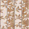 DUS Retro Wood Grain Leaves Waterproof Wallpaper Wall Stickers SA-1017 - COLORMIX