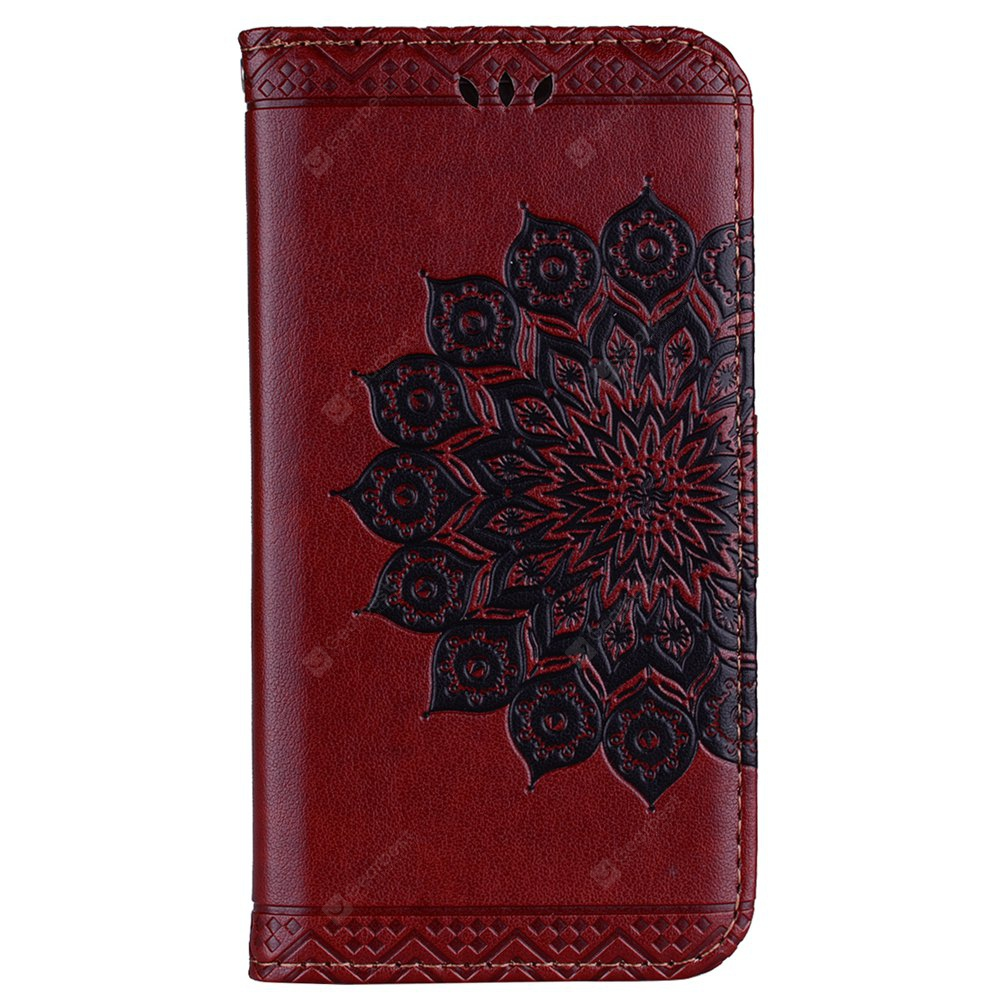 Bling Bling Style Datura Flower Pattern Flip PU Leather Wallet Case for Samsung Galaxy J7 2017 (Europe Edition)