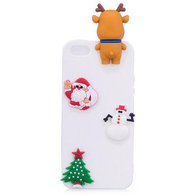 Christmas Tree Santa Claus Reindeer 3D Cartoon Animals Soft Silicone TPU Case for iPhone 5 / 5S / SE 2017 ultrasonic face pore cleaner ultrasound therapy skin scrubber galvanic ion spa beauty device facial massager face lift mach