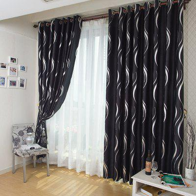 Buy BLACK European Style Simple Embossed Hot Silver Process Living Room Bedroom Restaurant Curtains Grommet for $116.19 in GearBest store