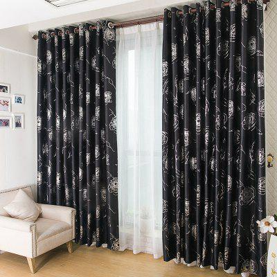 Buy BLACK European Style Embossed Hot Silver Process Living Room Bedroom Curtains for $122.97 in GearBest store