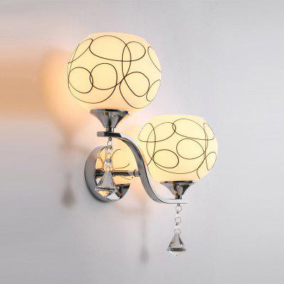 JUEJA Modern Wall Lamp Home Lights 2 Heads for Walkway