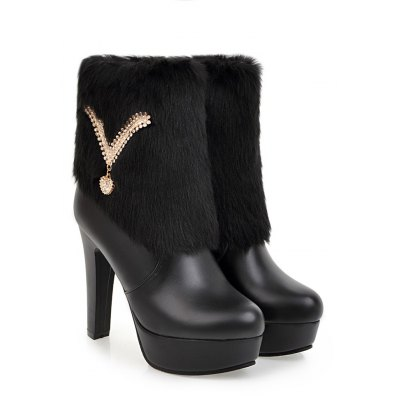Womens Shoes Winter Suede Warm High Thick Heel Waterproof Platform Side Zipper Snow BootsWomens Boots<br>Womens Shoes Winter Suede Warm High Thick Heel Waterproof Platform Side Zipper Snow Boots<br><br>Boot Height: Ankle<br>Boot Tube Height: 13<br>Boot Type: Fashion Boots<br>Closure Type: Zip<br>Gender: For Women<br>Heel Height: 12<br>Heel Height Range: Super High(Above4)<br>Heel Type: Platform<br>Package Contents: 1 x Shoes(pair)<br>Pattern Type: Solid<br>Platform Height: 3.5<br>Season: Spring/Fall, Winter<br>Toe Shape: Round Toe<br>Upper Material: PU<br>Weight: 1.6588kg