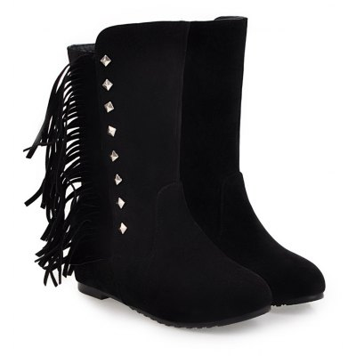 Womens Bottine Tassel Decoration Platform Top Fashion ShoesWomens Boots<br>Womens Bottine Tassel Decoration Platform Top Fashion Shoes<br><br>Boot Height: Mid-Calf<br>Boot Tube Height: 18<br>Boot Type: Fashion Boots<br>Closure Type: Slip-On<br>Embellishment: Tassel<br>Gender: For Women<br>Heel Height: 6<br>Heel Height Range: Med(1.75-2.75)<br>Heel Type: Increased Internal<br>Package Contents: 1 x Shoes(pair)<br>Pattern Type: Solid<br>Season: Spring/Fall, Winter<br>Toe Shape: Round Toe<br>Upper Material: Flock<br>Weight: 1.6588kg