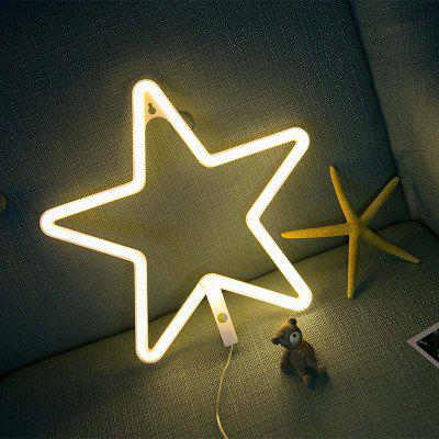 New Neon Star Shaped Night Light Beer Bar Home Christmas Party Decor