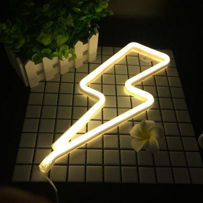 Neon Night Light Lightning Shaped LED Lamp for Baby Bedroom Decoration Wedding Party Decor
