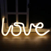 Neon Night Light Love Shaped LED Lamp for Baby Bedroom Decoration Wedding Party Decor
