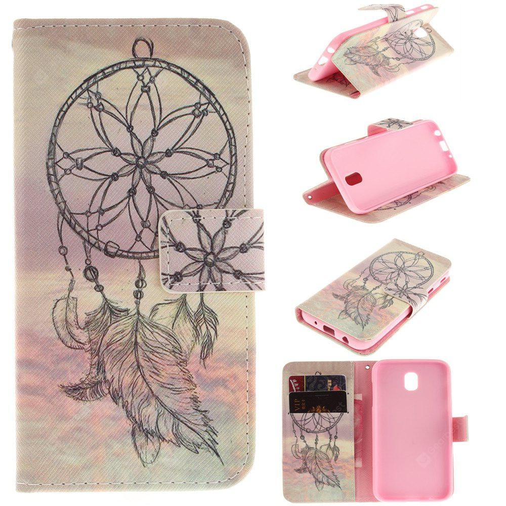 Dream Catcher PU+TPU Leather Wallet Case Design with Stand and Card Slots Magnetic Closure for Samsung Galaxy J5 2017 J530 EU Version