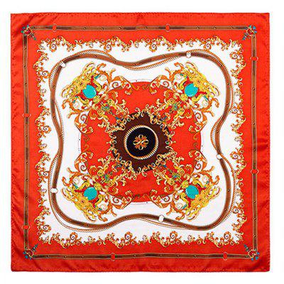 Buy RED 2017 Luxury Women Satin Silk Scarf Fashion Print Small Square Scarves for $28.90 in GearBest store