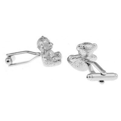 Mens Silver Bear Pattern Caving Cuff LinkTies &amp; Cufflinks<br>Mens Silver Bear Pattern Caving Cuff Link<br><br>Gender: For Men<br>Metal Type: Copper<br>Package Contents: 1 ? Cufflink, 1 ? Cufflinks box<br>Package size (L x W x H): 8.00 x 7.00 x 3.00 cm / 3.15 x 2.76 x 1.18 inches<br>Package weight: 0.0600 kg<br>Pattern Type: Others<br>Product weight: 0.0300 kg<br>Style: Classic<br>Type: Cuff Links