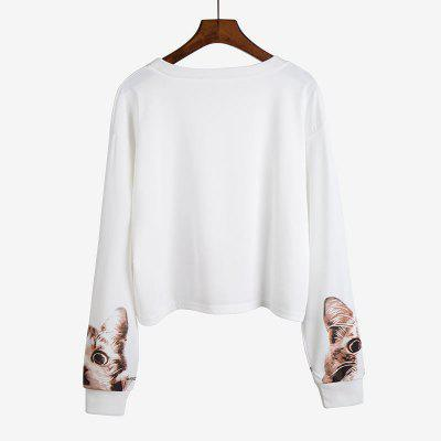 Womens  Sweater Fashion Round Neck Cat Printing SweatshirtTees<br>Womens  Sweater Fashion Round Neck Cat Printing Sweatshirt<br><br>Collar: Round Neck<br>Elasticity: Elastic<br>Fabric Type: Broadcloth<br>Material: Cotton Blends<br>Package Contents: 1 x Sweatshirt<br>Pattern Type: Animal<br>Shirt Length: Regular<br>Sleeve Length: Full<br>Style: Casual<br>Weight: 0.2400kg