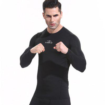 Quick-drying Sports Gym Tights Compression Garment Long Sleeves Keep Warm Clothes
