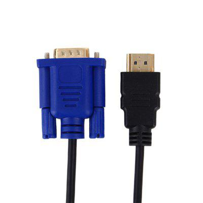 HDMI to VGA HDMI Gold Male to VGA Male Cable 1.8M 80 channels hdmi to dvb t modulator hdmi extender over coaxial