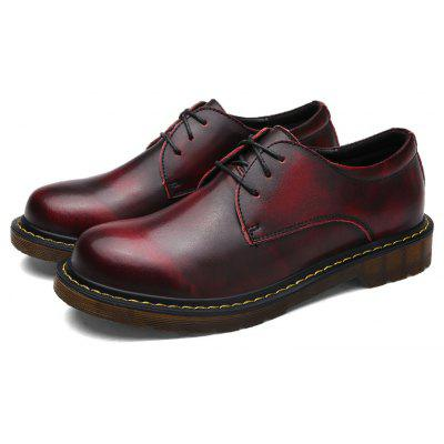 Solid Low Vamp Fashion British Leisure Leather ShoesCasual Shoes<br>Solid Low Vamp Fashion British Leisure Leather Shoes<br><br>Available Size: 39 40 41 42 43 44<br>Closure Type: Lace-Up<br>Embellishment: None<br>Gender: For Men<br>Outsole Material: Rubber<br>Package Contents: 1?Shoes(pair)<br>Pattern Type: Others<br>Season: Spring/Fall<br>Toe Shape: Round Toe<br>Toe Style: Closed Toe<br>Upper Material: Leather<br>Weight: 1.0200kg