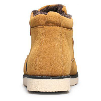 "Winter Warm Young Men BootsMens Boots<br>Winter Warm Young Men Boots<br><br>Boot Height: Ankle<br>Boot Type: Snow Boots<br>Closure Type: Lace-Up<br>Embellishment: None<br>Gender: For Men<br>Heel Hight: Low(0.75""-1.5"")<br>Heel Type: Flat Heel<br>Outsole Material: Rubber<br>Package Contents: 1?Shoes(pair)<br>Pattern Type: Others<br>Season: Winter<br>Toe Shape: Round Toe<br>Upper Material: PU<br>Weight: 1.0200kg"