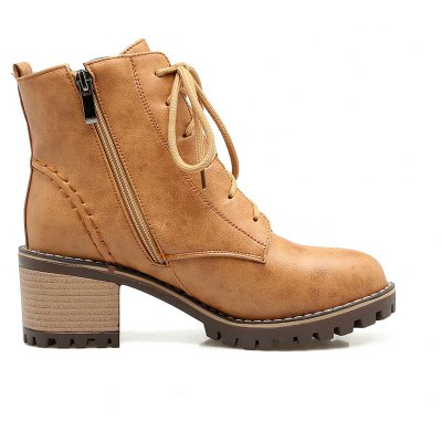 Womens Shoes Combat Round Toe Booties Ankle Boots Zipper Lace-upWomens Boots<br>Womens Shoes Combat Round Toe Booties Ankle Boots Zipper Lace-up<br><br>Boot Height: Ankle<br>Boot Tube Circumference: 33<br>Boot Tube Height: 10<br>Boot Type: Motorcycle Boots<br>Closure Type: Lace-Up<br>Gender: For Women<br>Heel Height: 5<br>Heel Height Range: Med(1.75-2.75)<br>Heel Type: Chunky Heel<br>Insole Material: PU<br>Lining Material: PU<br>Outsole Material: Rubber<br>Package Contents: 1xShoes(pair)<br>Pattern Type: Solid<br>Platform Height: 1.5<br>Season: Winter<br>Shoe Width: Medium(B/M)<br>Toe Shape: Round Toe<br>Upper Material: PU<br>Weight: 1.9800kg