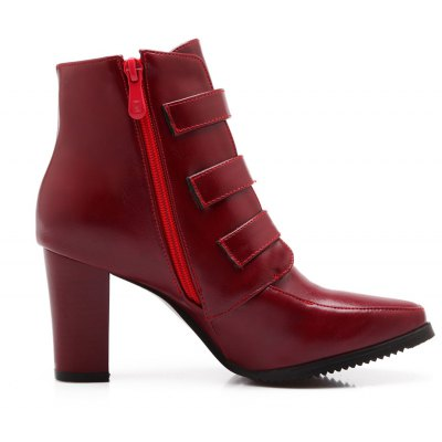 Womens Shoes Winter Fashion Round Toe Punk Booties Ankle Boots Buckle ZipperWomens Boots<br>Womens Shoes Winter Fashion Round Toe Punk Booties Ankle Boots Buckle Zipper<br><br>Boot Height: Ankle<br>Boot Tube Circumference: 33<br>Boot Tube Height: 10<br>Boot Type: Motorcycle Boots<br>Closure Type: Zip<br>Embellishment: Buckle<br>Gender: For Women<br>Heel Height: 8<br>Heel Height Range: High(3-3.99)<br>Heel Type: Chunky Heel<br>Insole Material: PU<br>Lining Material: PU<br>Outsole Material: Rubber<br>Package Contents: 1xShoes(pair)<br>Pattern Type: Solid<br>Platform Height: 1<br>Season: Winter<br>Shoe Width: Medium(B/M)<br>Toe Shape: Pointed Toe<br>Upper Material: PU<br>Weight: 2.2500kg