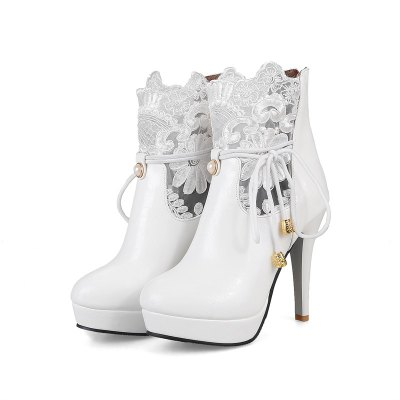Womens Shoes Leatherette Winter Round Toe Booties Ankle Boots Imitation Pearl Stitching Lace ZipperWomens Boots<br>Womens Shoes Leatherette Winter Round Toe Booties Ankle Boots Imitation Pearl Stitching Lace Zipper<br><br>Boot Height: Ankle<br>Boot Tube Circumference: 32<br>Boot Tube Height: 13<br>Boot Type: Fashion Boots<br>Closure Type: Zip<br>Embellishment: Lace<br>Gender: For Women<br>Heel Height: 11<br>Heel Height Range: Super High(Above4)<br>Heel Type: Stiletto Heel<br>Insole Material: PU<br>Lining Material: PU<br>Outsole Material: Rubber<br>Package Contents: 1xShoes(pair)<br>Pattern Type: Floral<br>Platform Height: 2.5<br>Season: Winter<br>Shoe Width: Medium(B/M)<br>Toe Shape: Round Toe<br>Upper Material: PU<br>Weight: 1.9800kg