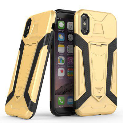 TPU Protective Bumper Cover Case for iPhone XCases &amp; Leather<br>TPU Protective Bumper Cover Case for iPhone X<br><br>Compatible Model: iPhone x<br>Features: Cases with Stand, Anti-knock<br>Material: TPU, PC<br>Package Contents: 1 x Phone Case<br>Package size (L x W x H): 21.00 x 12.00 x 0.01 cm / 8.27 x 4.72 x 0 inches<br>Package weight: 0.0320 kg<br>Product Size(L x W x H): 14.80 x 7.55 x 1.20 cm / 5.83 x 2.97 x 0.47 inches<br>Product weight: 0.0310 kg<br>Style: Solid Color, Cool