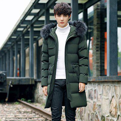 Mens Plush Casual Long CoatMens Jackets &amp; Coats<br>Mens Plush Casual Long Coat<br><br>Closure Type: Zipper<br>Clothes Type: Padded<br>Collar: Hooded<br>Color Style: Solid<br>Colors: Black,Gray,Army green<br>Decoration: Feather<br>Detachable Part: None<br>Fabric Type: Microfiber<br>Hooded: Yes<br>Lining Material: Cotton,Synthetic<br>Materials: Cotton<br>Package Content: 1 X Coat<br>Package size (L x W x H): 40.00 x 20.00 x 2.00 cm / 15.75 x 7.87 x 0.79 inches<br>Package weight: 0.5000 kg<br>Size1: M,L,XL,2XL,3XL<br>Sleeve Style: Regular<br>Style: Casual<br>Thickness: Thickening<br>Type: Slim