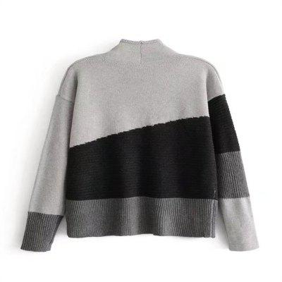 European and American Style Stitching Small Turtleneck SweaterSweaters &amp; Cardigans<br>European and American Style Stitching Small Turtleneck Sweater<br><br>Collar: Turtleneck<br>Elasticity: Elastic<br>Material: Cotton, Cashmere, Wool<br>Package Contents: 1 x Sweater<br>Sleeve Length: Full<br>Style: Fashion<br>Type: Pullovers<br>Weight: 0.4000kg