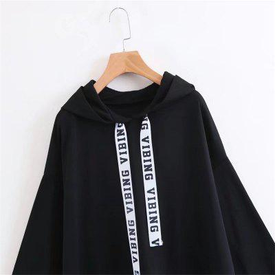 The New Ladys Black Letter HoodieSweatshirts &amp; Hoodies<br>The New Ladys Black Letter Hoodie<br><br>Closure Type: None<br>Collar: Hooded<br>Detachable Part: None<br>Elasticity: Elastic<br>Fabric Type: Cotton<br>Hooded: Yes<br>Material: Cotton<br>Package Contents: 1 x Hoodie<br>Pattern Style: Letter<br>Shirt Length: Regular<br>Sleeve Length: Full<br>Sleeve Style: Regular<br>Style: Fashion<br>Thickness: Standard,Thick<br>Weight: 0.5000kg