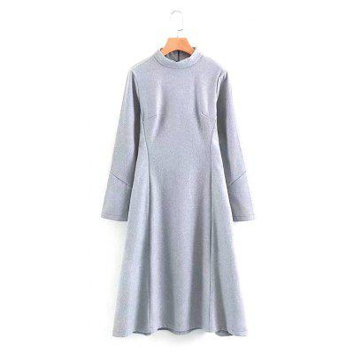 Buy GRAY M The New Lady's Grey Woollen Dress for $32.55 in GearBest store