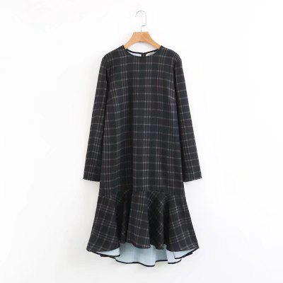 New Ladies Dark Plaid Mini Skirts in 2017Mini Dresses<br>New Ladies Dark Plaid Mini Skirts in 2017<br><br>Dresses Length: Mini<br>Elasticity: Elastic<br>Fabric Type: Cotton and kapok hemp<br>Material: Cotton<br>Neckline: Round Collar<br>Package Contents: 1 x Dress<br>Pattern Type: Plaid<br>Season: Summer, Winter, Spring, Fall<br>Silhouette: A-Line<br>Sleeve Length: Long Sleeves<br>Style: Fashion<br>Weight: 0.3000kg<br>With Belt: No