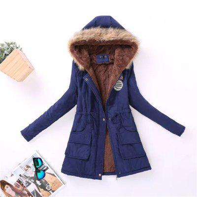 New Ladies  Long Cotton Garment with A Hat and VelvetJackets &amp; Coats<br>New Ladies  Long Cotton Garment with A Hat and Velvet<br><br>Closure Type: Zipper<br>Clothes Type: Down &amp; Parkas<br>Collar: Hooded<br>Detachable Fur Collar: No<br>Elasticity: Micro-elastic<br>Embellishment: Patch Designs<br>Fabric Type: Cotton and kapok hemp<br>Material: Cotton, Wool, Cashmere, Microfiber<br>Package Contents: 1 x Coat<br>Pattern Type: Letter<br>Shirt Length: Short<br>Sleeve Length: Full<br>Style: Fashion<br>Type: Wide-waisted<br>Weight: 0.8000kg