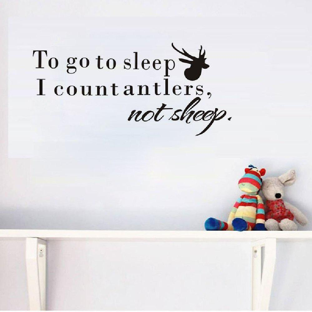 Autocollant Décoratif en Vinyles DSU Murale pour Chambre D'enfants To Go To Sleep I Count Dinosaurs Not Sheep