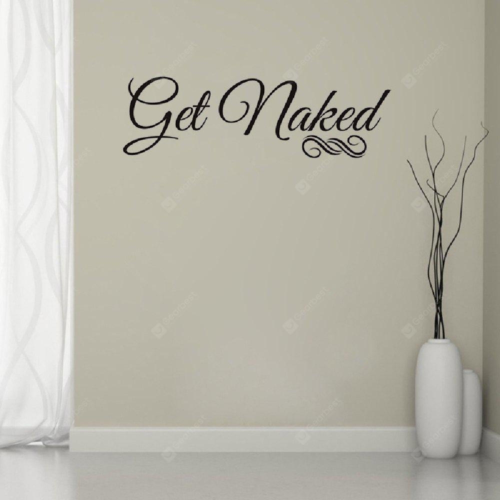 DSU Get Naked Wall Decal Vinyl Bathroom Wall Art Stickers