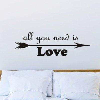 DSU All You Need Is Love Vinyl English Words Wall Stickers Living ...
