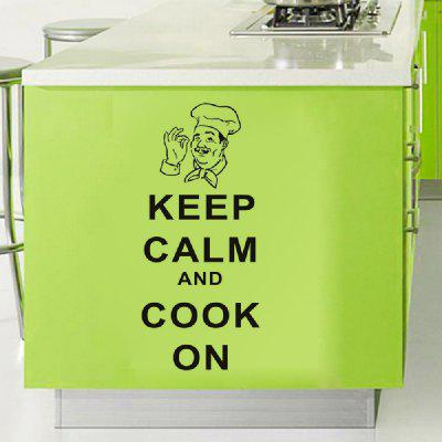 Autocollant DSU Mural pour la Cuisine Inscription Keep Calm And Cook On