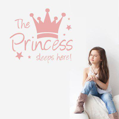 Autocollant Décoratif Mural DSU Inscription The Princess Sleeps Heree pour Chambre