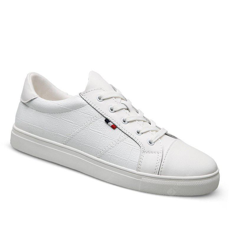 cheap 2014 new Genuine Leather Men Casual Shoes Soft Casual Driving Flats White Black Sneakers - White 43 sale pick a best CHVFt61lUE