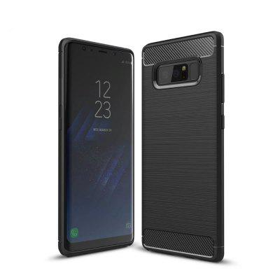 Buy BLACK Shockproof Back Cover Solid Color Soft Carbon Fiber Case for Samsung Galaxy Note 8 for $3.97 in GearBest store