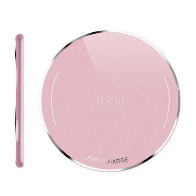 Fast Qi Charger Wireless Charging Pad Metal CaseChargers &amp; Cables<br>Fast Qi Charger Wireless Charging Pad Metal Case<br><br>Color: Black,Pink<br>Mainly Compatible with: Apple, SAMSUNG, Samsung Galaxy S6 Edge Plus, Samsung Note 5<br>Package Contents: 1 x Charger, 2 x Cable<br>Package size (L x W x H): 10.00 x 10.00 x 10.00 cm / 3.94 x 3.94 x 3.94 inches<br>Package weight: 0.7500 kg<br>Product size (L x W x H): 10.00 x 10.00 x 5.00 cm / 3.94 x 3.94 x 1.97 inches