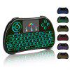 2.4GWireless keyboard  Touchpad Multi-touch  Colorful touch keypad - BLACK