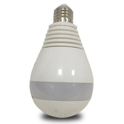 LED Bulb White Light 360 Degree 1.3MP WiFi Wireless P2P Cloud Security Network Fisheye Panoramic IP Camera