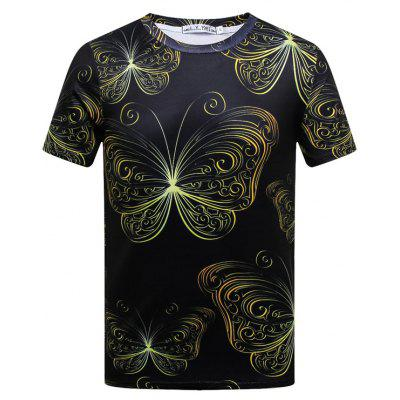 Buy BLACK 2XL Men's Short-sleeved Palace Printed T-shirts for $19.67 in GearBest store