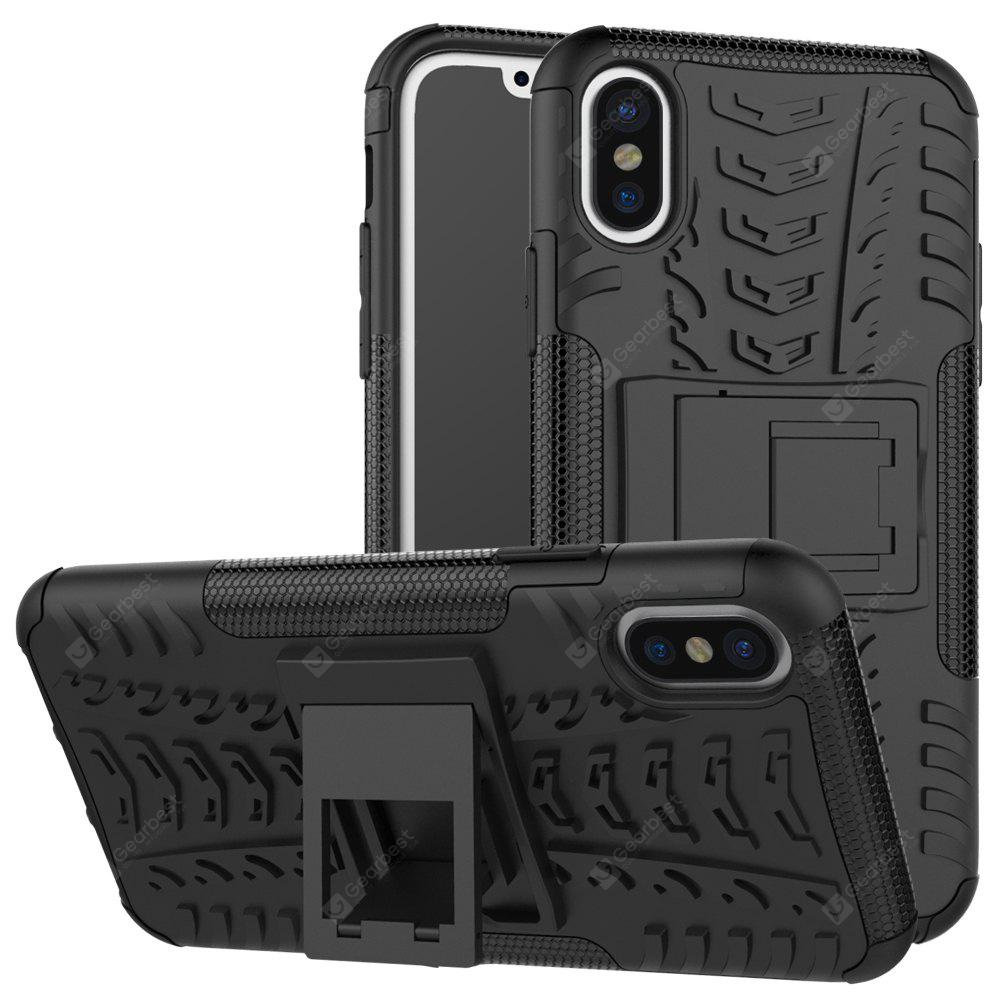 Shock Proof Defender Armor com capa embutida Kickstand Case para iPhone X