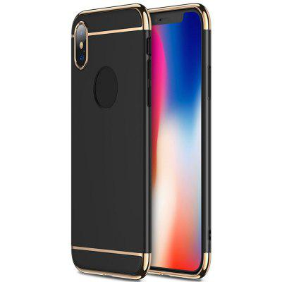 3 in 1 Thin Slim Hard Stylish Case Matte Surface with Electroplate Frame for iPhone X
